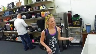 Pawnshop owner gets the car, the blonde girl and a blowjob