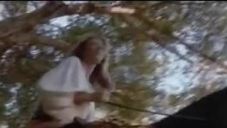 Jenna takes a ride and finds a good dick in the forest