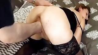 Brutally fisting his slut girlfriend in bondage