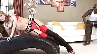 Dirty and slutty Natasha Starr gets banged from behind by Lex