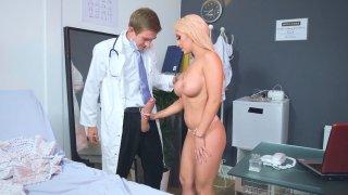 Christina Shine sucking huge Dr. Danny D's cock