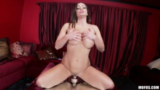 Playful bitch Abigail Mac plays with her toys stretching her fuck holes