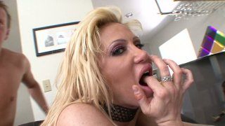 Hunting for orgasm slutty blondie Jennifer Adams rides a cock