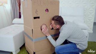 Makeshift Cardboard Gloryhole