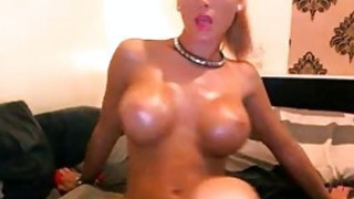 Busty blonde model with big lips shows off