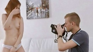 Tight teen Raquel C fucked and facialed by hard schlong